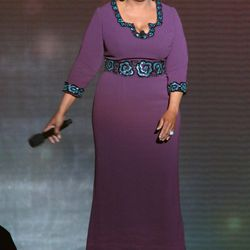 "<span class=""credit"">Image via Getty</span>2011: <strong>Oprah Winfrey</strong> wore a custom L'Wren Scott design for her final show."