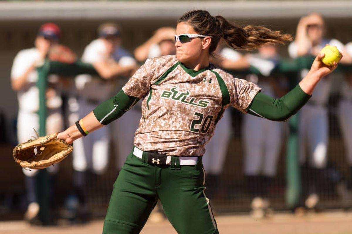 Erica Nunn, along with Juli Weber and the USF Softball Coaching Staff received end of season AAC awards on Wednesday.