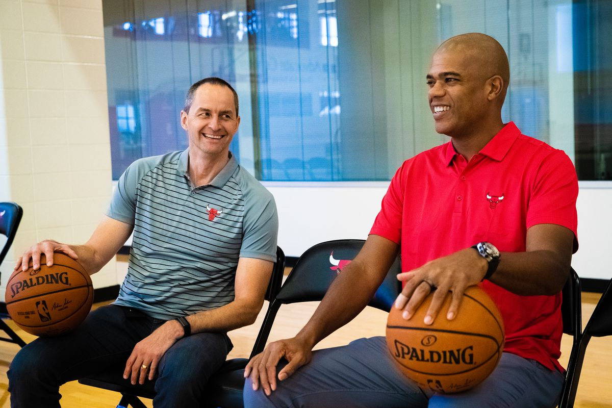 Chicago Bulls Introduce Arturas Karnisovas and Marc Eversley