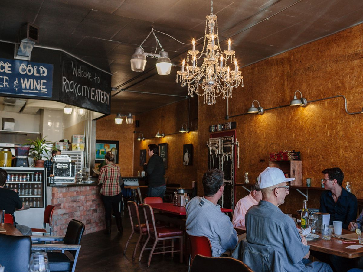 """<a href=""""http://detroit.eater.com/2013/9/24/6365927/a-look-at-rock-city-eaterys-soft-opening"""">Rock City Eatery</a>."""