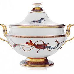 "Cheval d'Orient Soup Tureen ($4,875), <a href=""http://usa.hermes.com/p_cheval-d'orient_cheval-d'orient_home_91426_184548_58017_184542_127528_10202_10052_-1"" rel=""nofollow"">Hermès</a>"