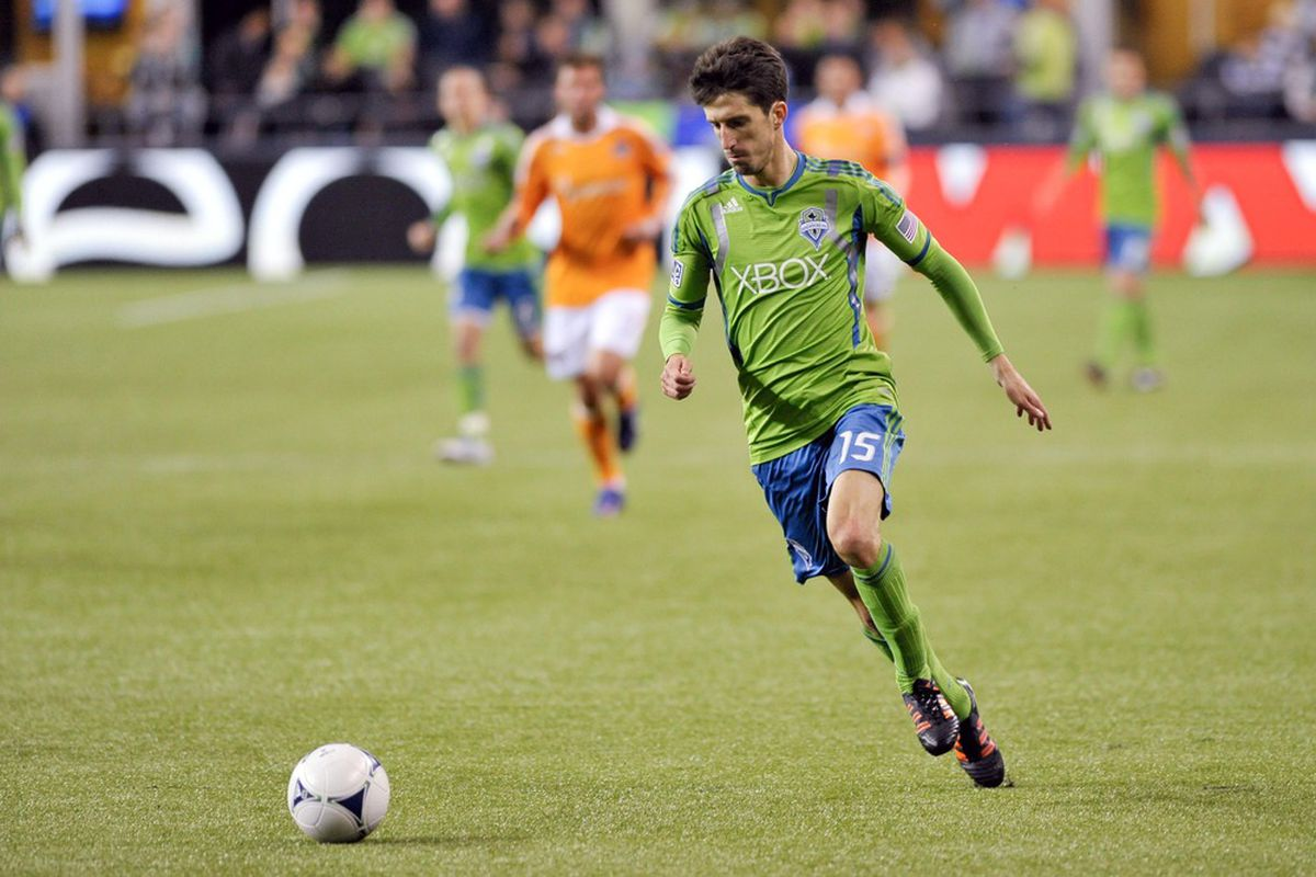 The 2012 Sounders are more than just the players in the foreground.  The team's depth and tactical flexibility continue to shine. Mandatory Credit: Steven Bisig-US PRESSWIRE