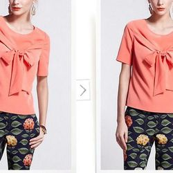 """<a href=""""http://www.anthropologie.com/anthro/product/clothes-blouse/A26191601.jsp"""">Lula's Bowtied Blouse</a>, $88 at Anthropologie"""