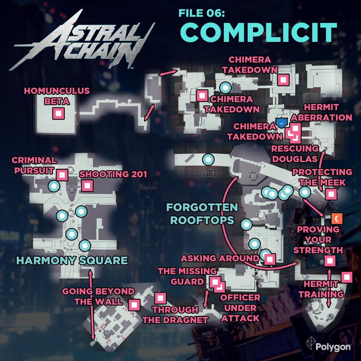 Astral Chain File 06: Complicit collectibles map