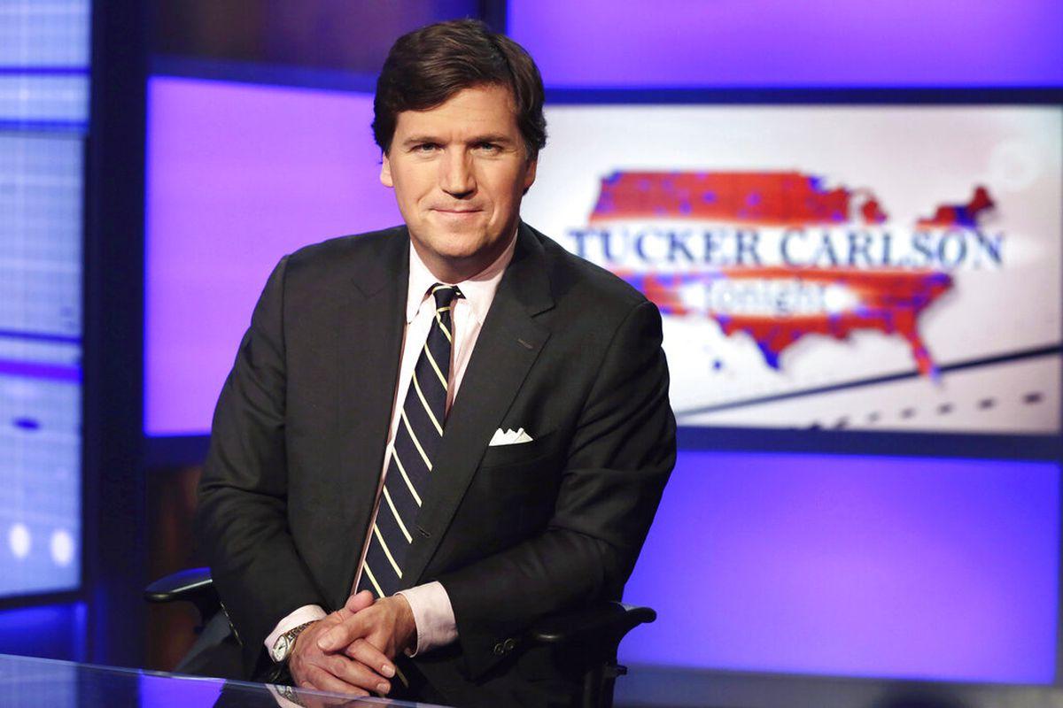 Tucker Carlson in New York.