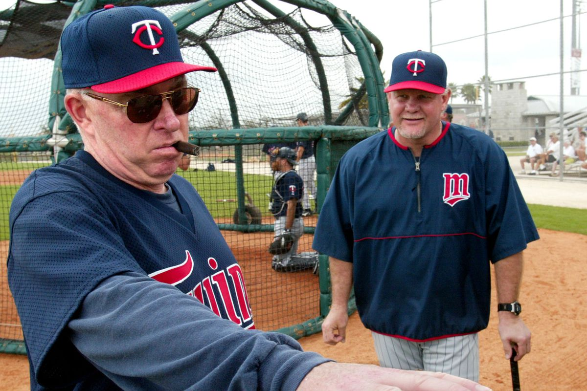 Fort Myers Fla. - Lee County Sports Complex - Twins Spring Training - Friday was the first day for the full Twins squad to work out together, with only pitchers and catchers being in camp before this. In addition, former Twins manager Tom Kelly made his