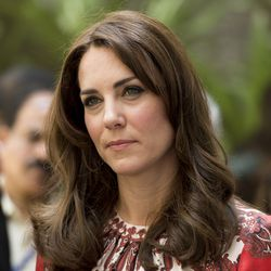 Kate's first look of the trip was Alexander McQueen.