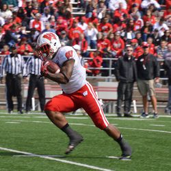 Running back Corey Clement runs with the ball.