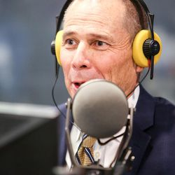 Republican John Curtis answers a question during an on-air debate between 3rd Congressional District candidates hosted by KSL Newsradio in Salt Lake City on Tuesday, Oct. 10, 2017. Curtis is vying to fill the remaining year of former GOP Rep. Jason Chaffetz's term. Chaffetz, now a Fox News contributor, resigned June 30.