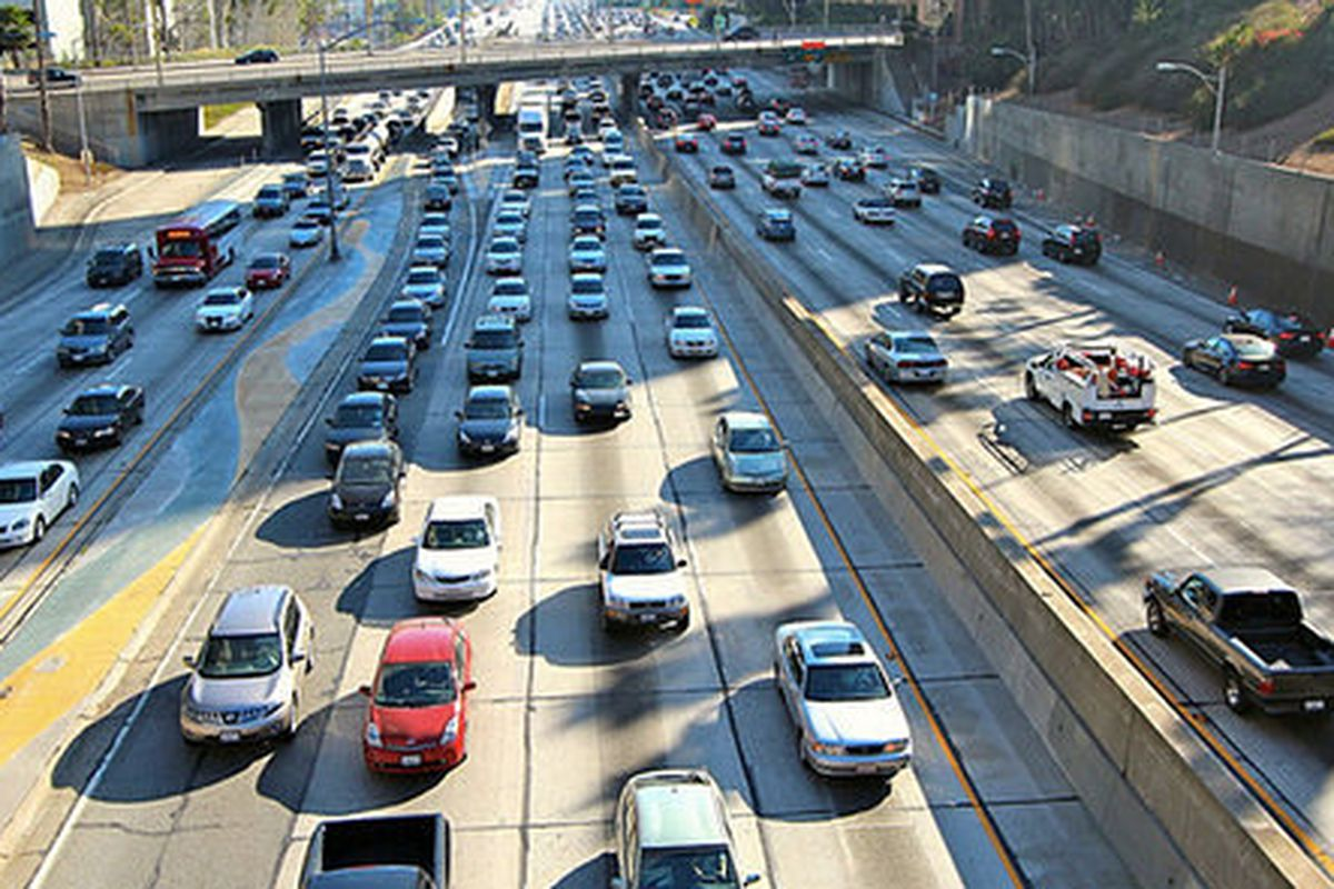 The Worst Day And Time To Drive On Every Los Angeles Freeway - Los angeles freeway map traffic