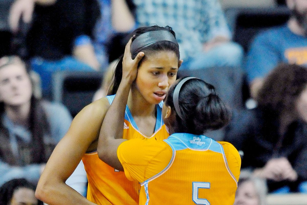 One player who won't get in foul trouble today. Also shown: Isabelle Harrison.