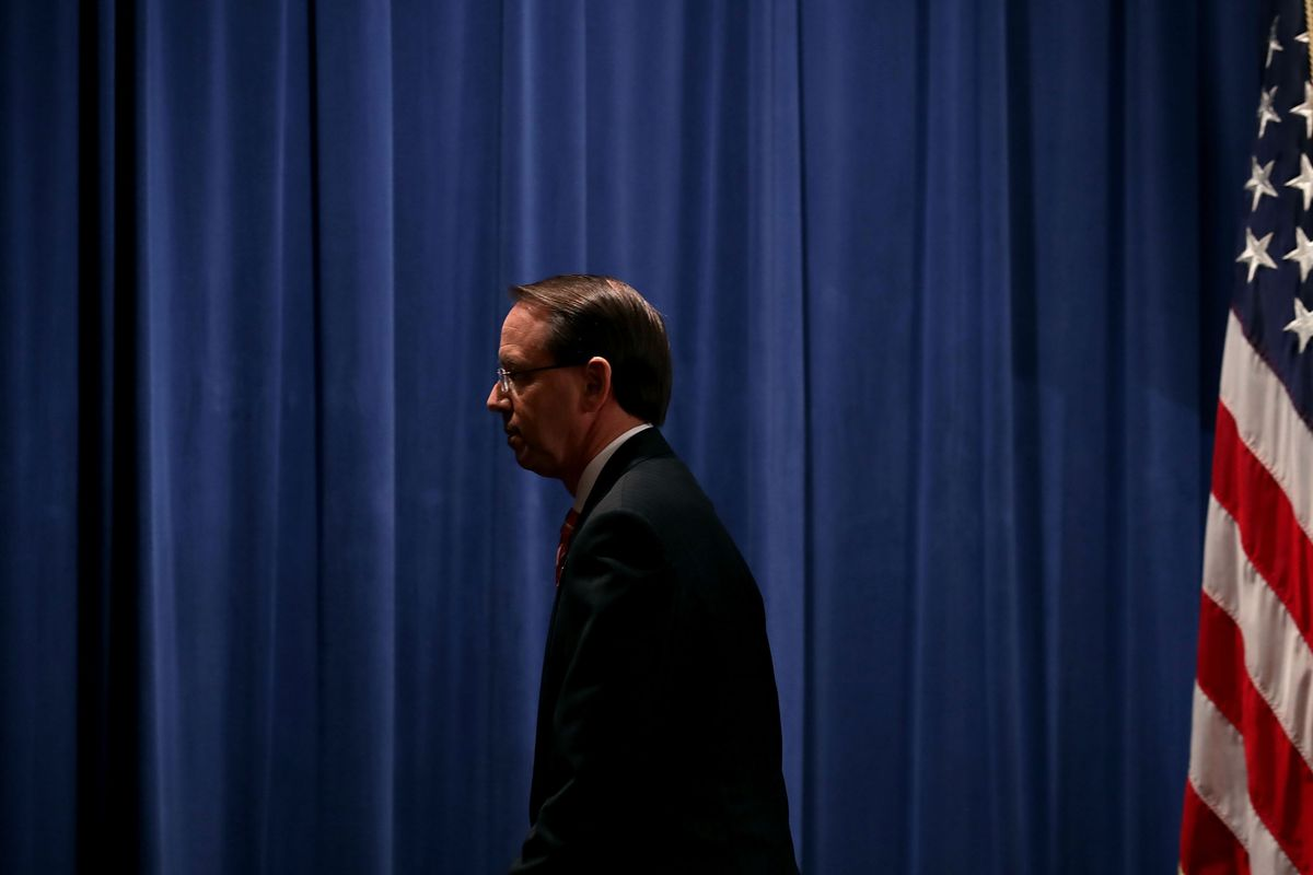 US Deputy Attorney General Rod Rosenstein has been a vocal critic of supervised drug consumption sites, also known as safe injection sites.
