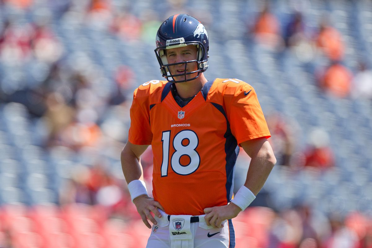 hot sale online 9711b 05ac0 Tripucka had just one request for Manning to wear No. 18 - a ...