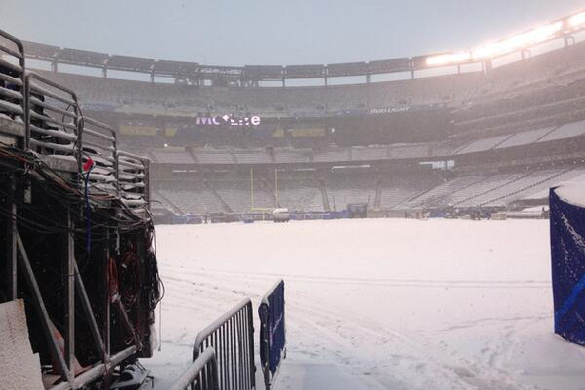 MetLife Stadium the day after Super Bowl XLVIII