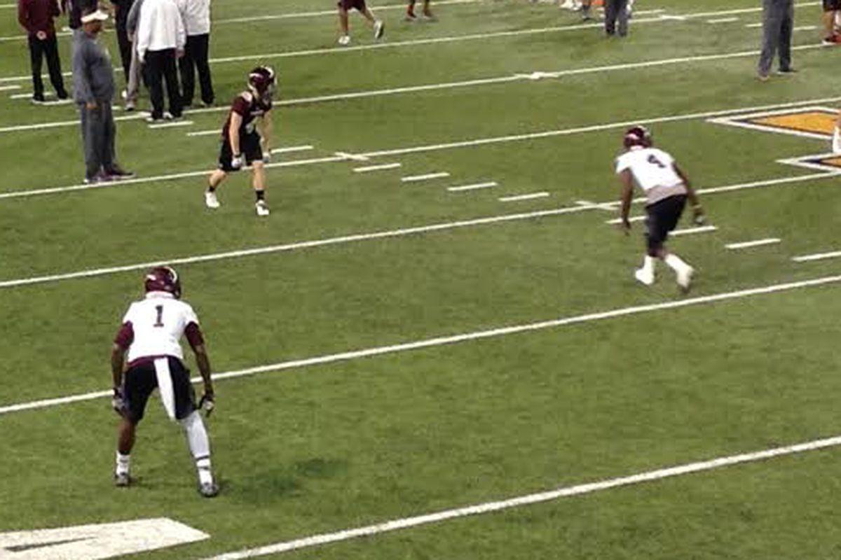 Devante Harris and Toney Hurd, Jr. preparing for Duke on Sunday.