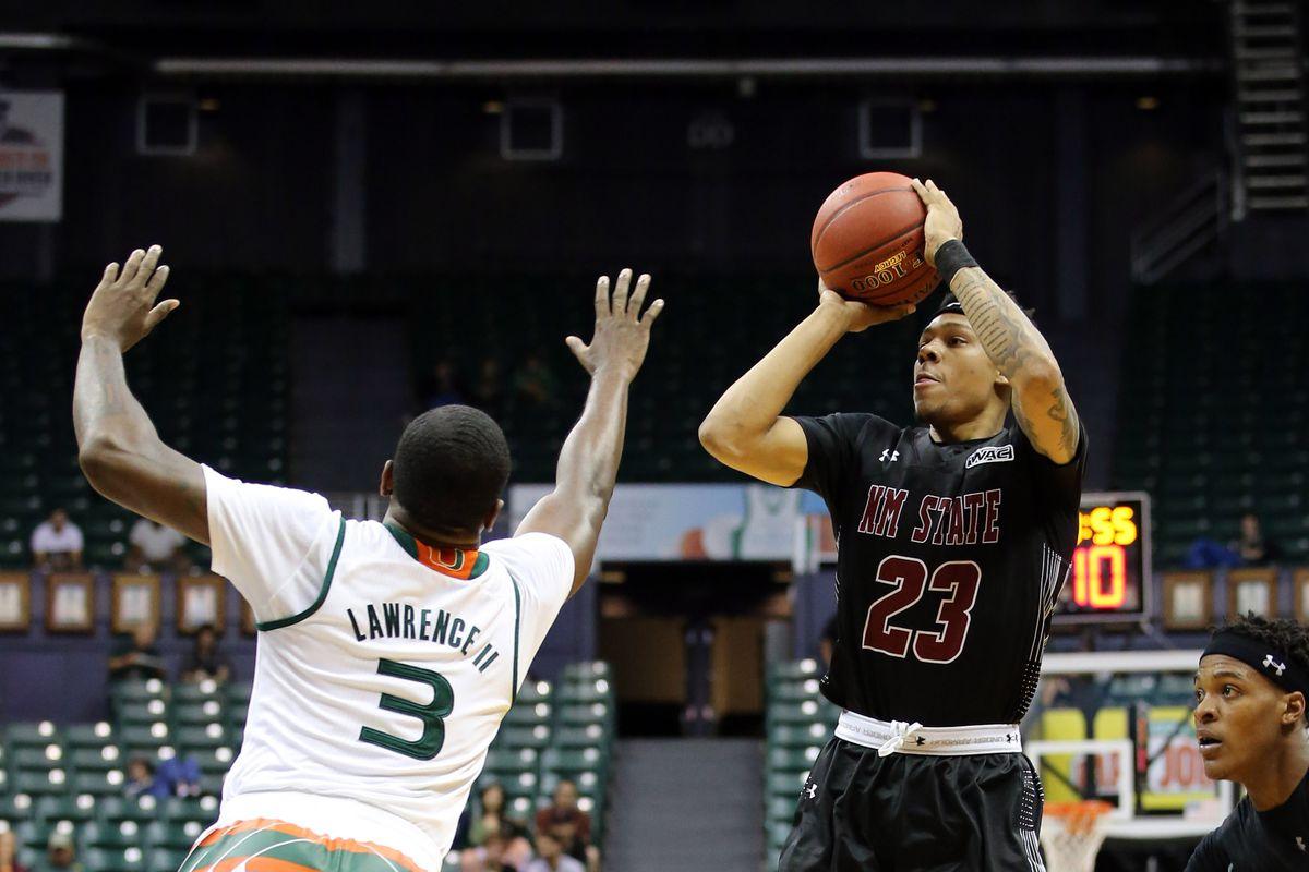 NCAA Basketball: New Mexico State at Miami