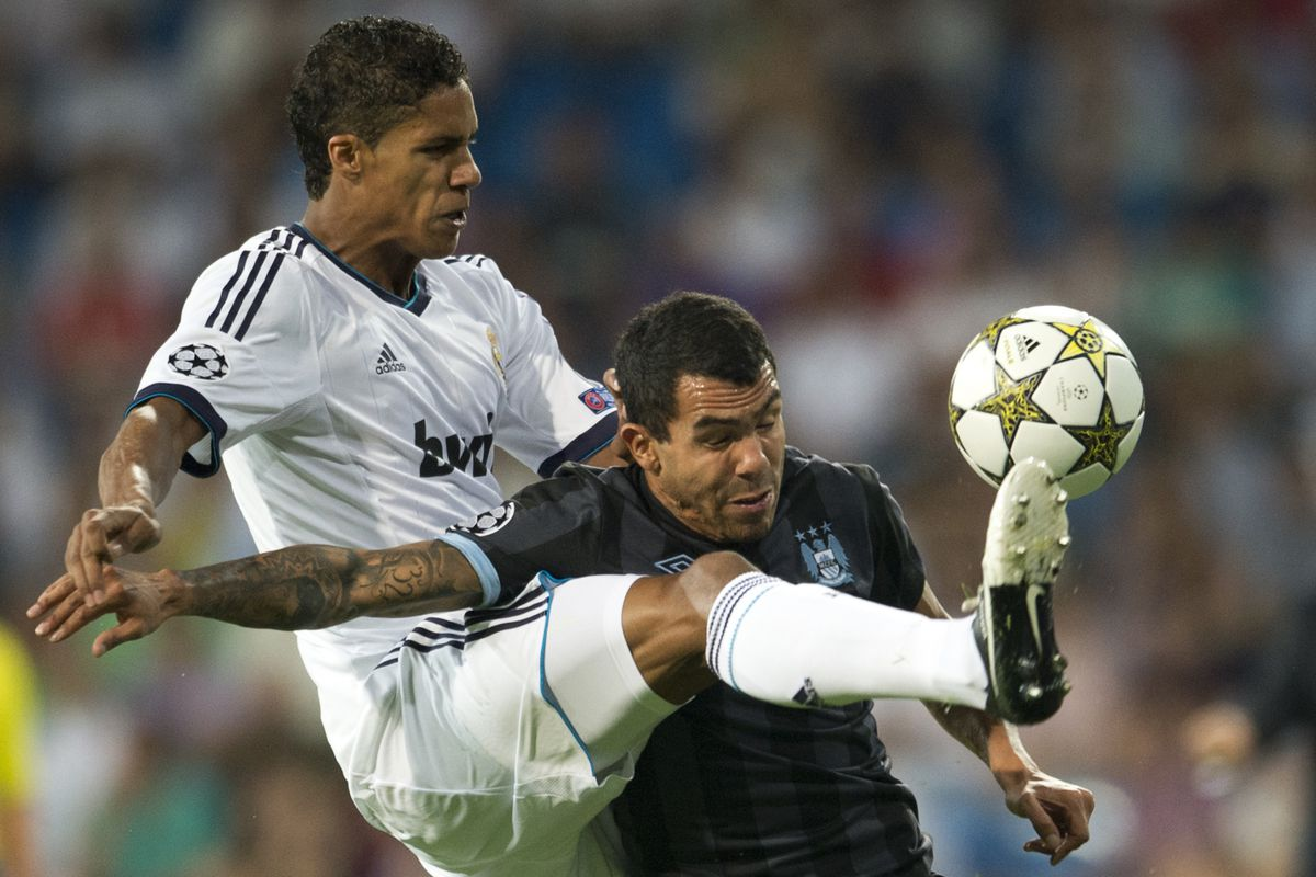 Real Madrid's man of the moment -- Raphael Verane -- telling Carlos Tevez to 'piss off'