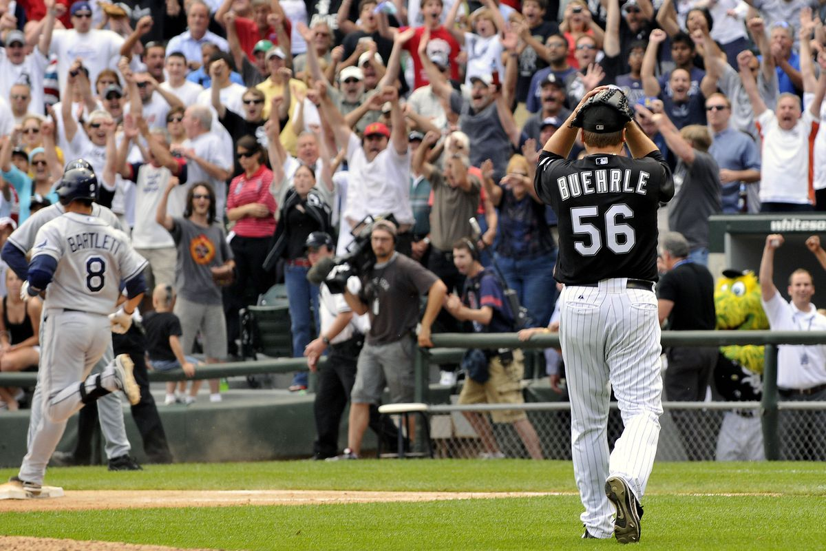 MLB: JUL 23 Rays at White Sox - Mark Buehrle Pitches Perfect Game