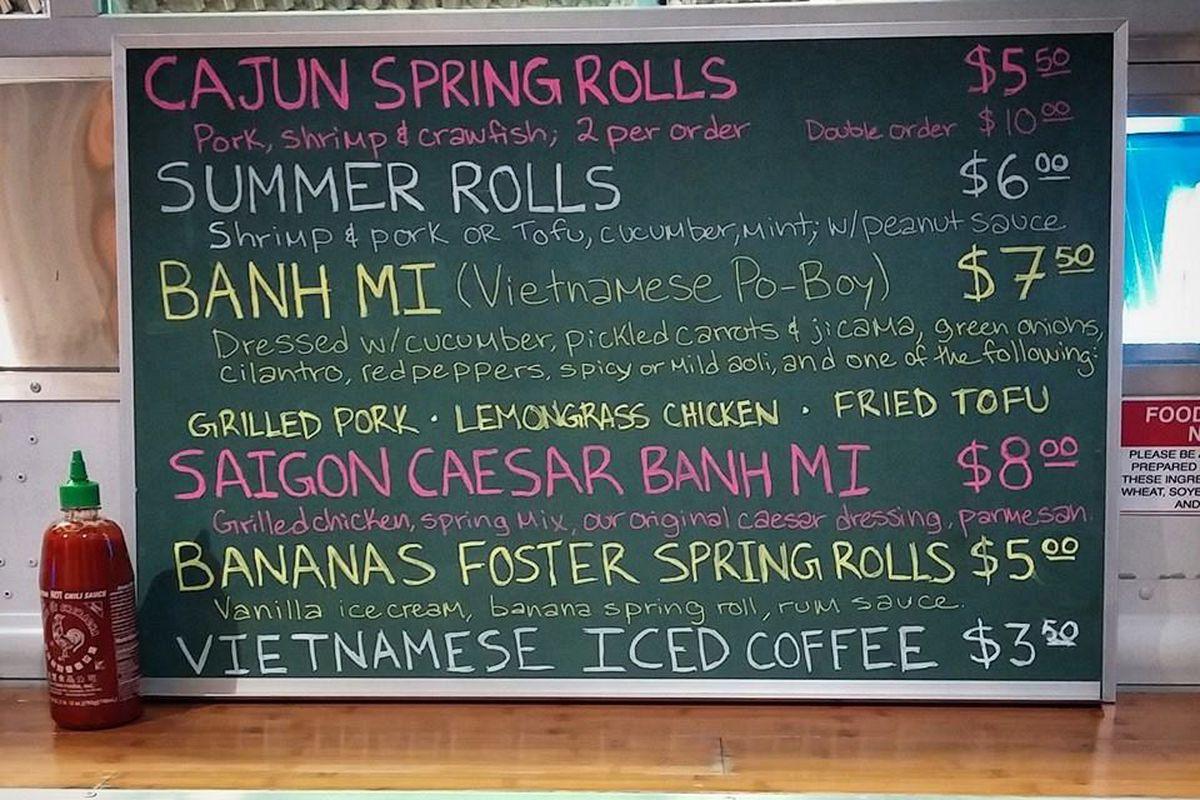 Saigon Slim's menu