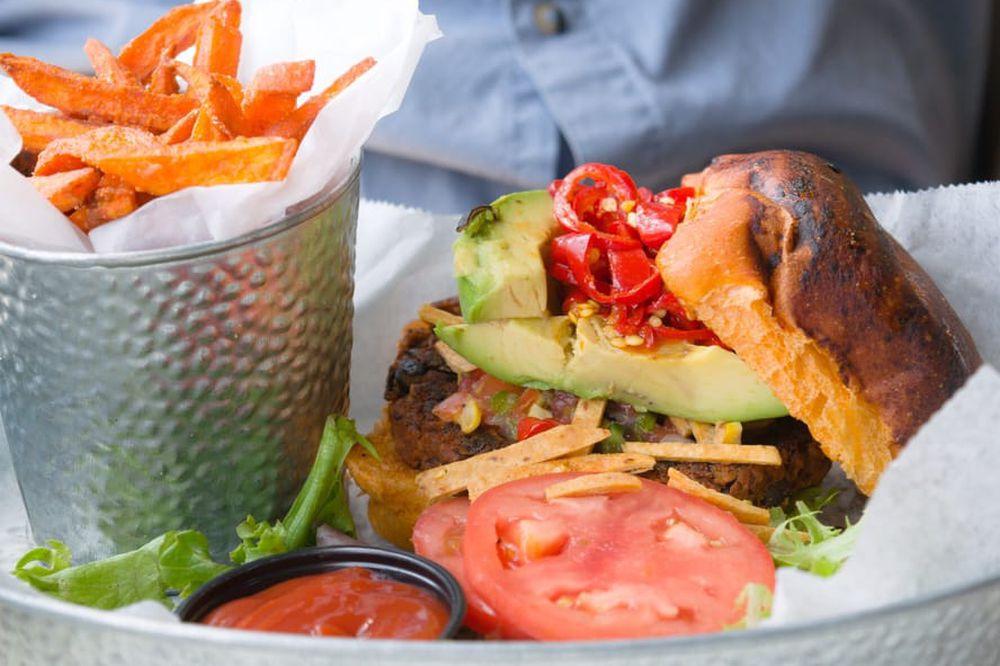 Greenhouse's black bean burger