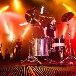 Imagine Dragons performs at the Tulsa, Olka. concert benefitting the Tyler Robinson Foundation on February 22.