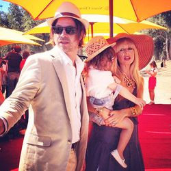 A dapper Rodger Berman with Rachel Zoe, wearing a Calypso maxi, and baby Skyler, wearing the cutest Gucci loafers.