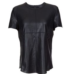 """Maiko perforated leather top, <a href=""""http://www.scoopnyc.com/maiko-perforated-leather-top.html"""">Scoop</a>, $335"""