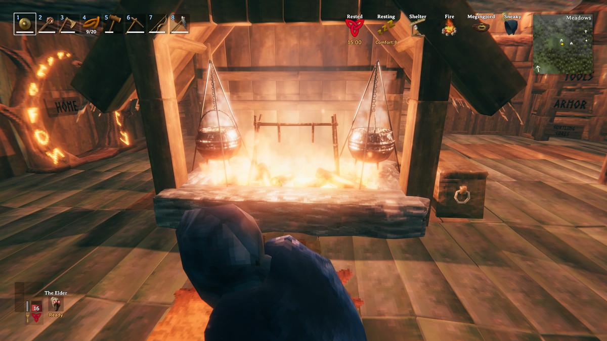 Valheim hearth cauldron cooking station