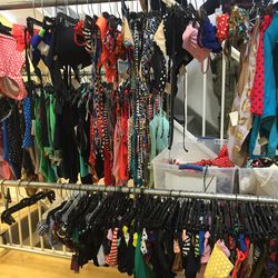 Swimsuits, $25 per piece or $40 for one-pieces
