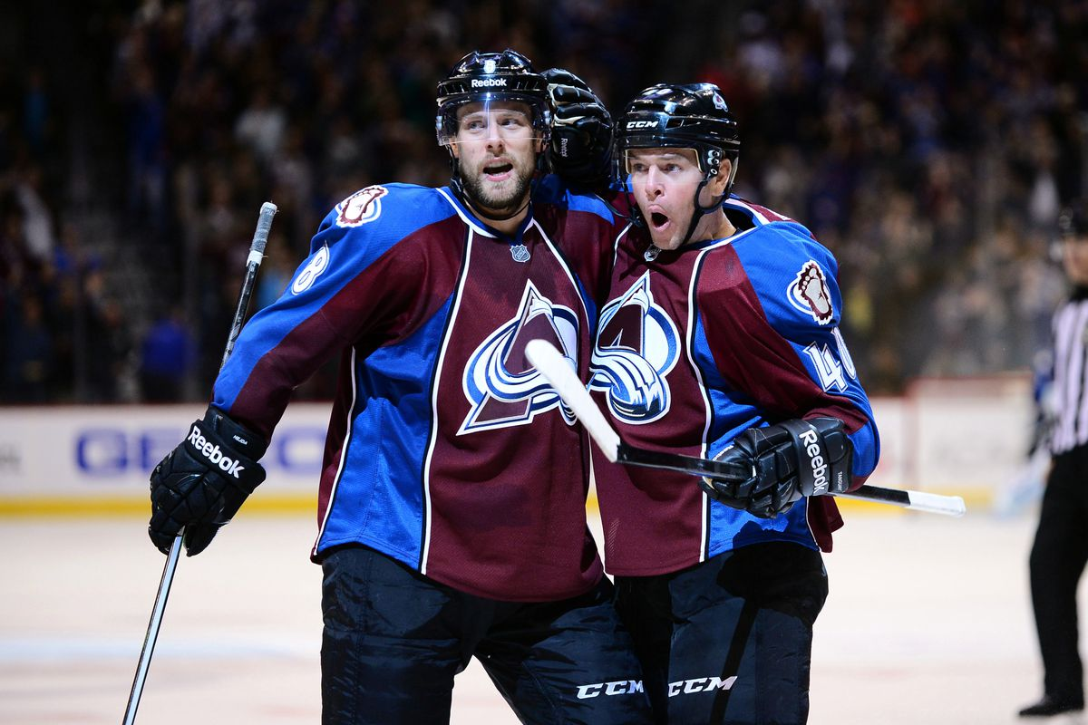 Alex Tanguay (right) is excited and so are we - Photo Credit