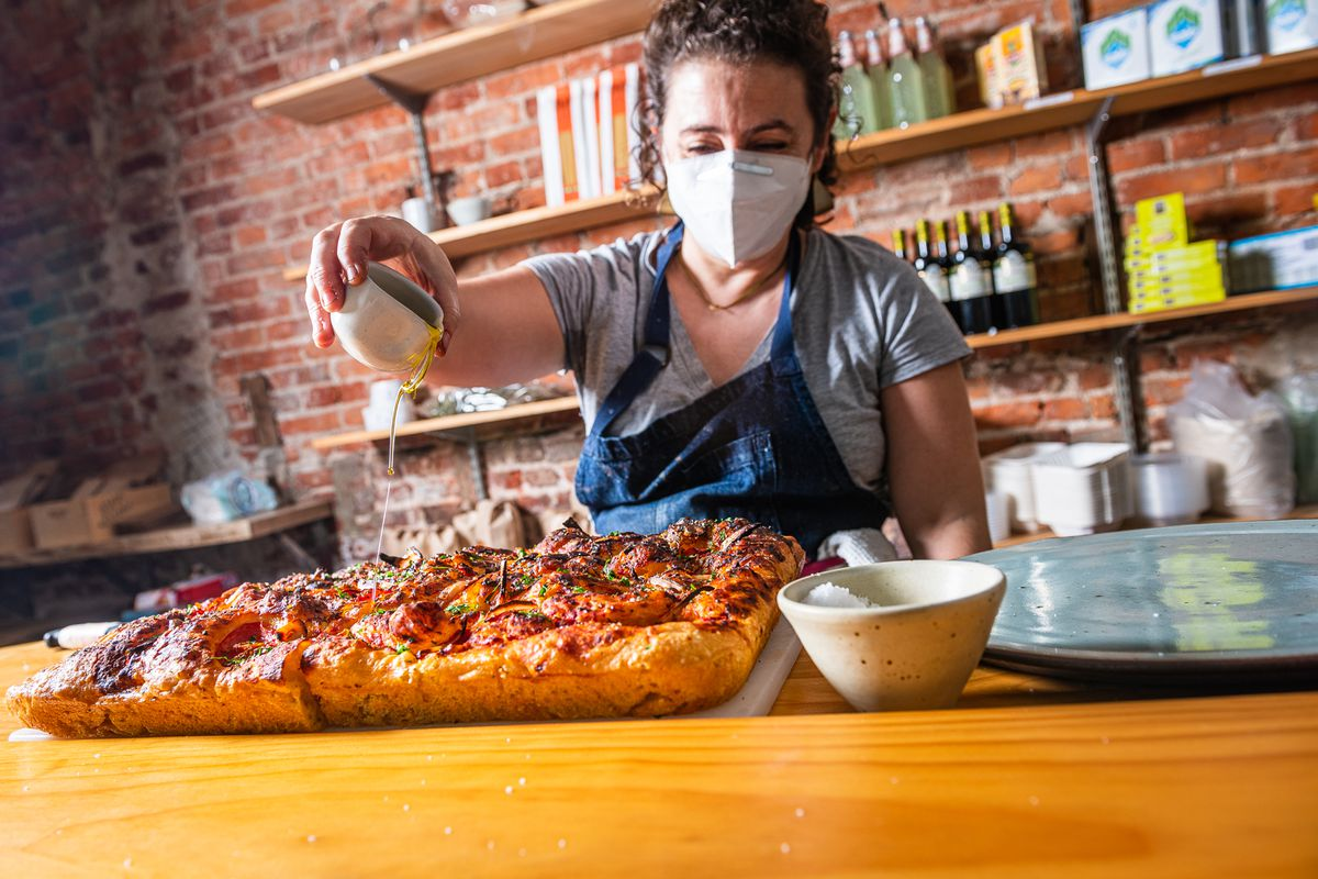 Green Almond Pantry chef-owner Cagla Onal-Urel won over local and national critics with Mediterranean lunch dishes like focaccia drizzled with olive oil