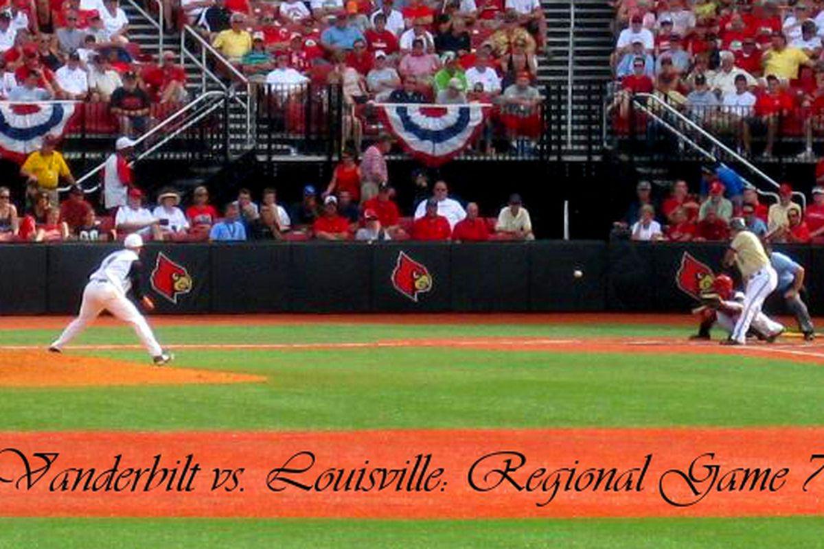 It's winner takes all as Vanderbilt battles host Louisville tonight for a berth in a NCAA Super Regional next weekend.