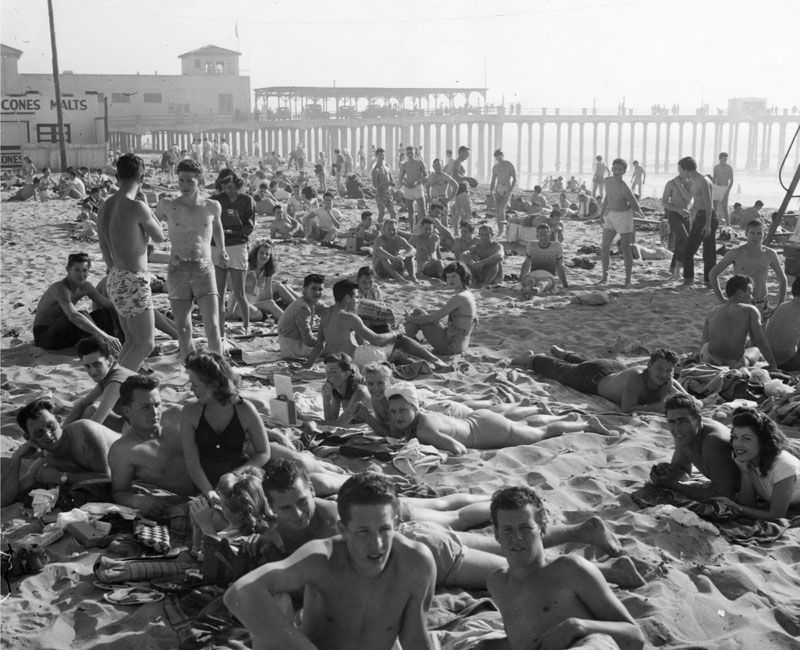Old photo of Hermosa Beach