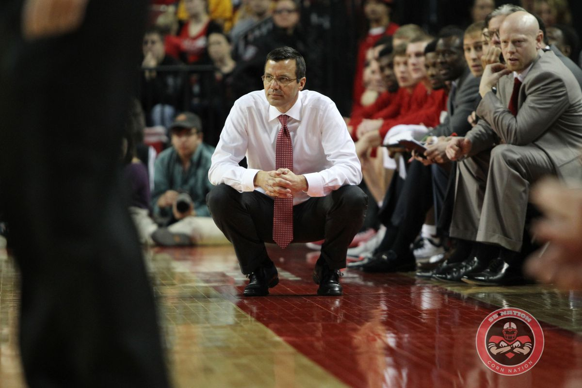 The Huskers men's basketball team fell to Rhode Island, 66-62