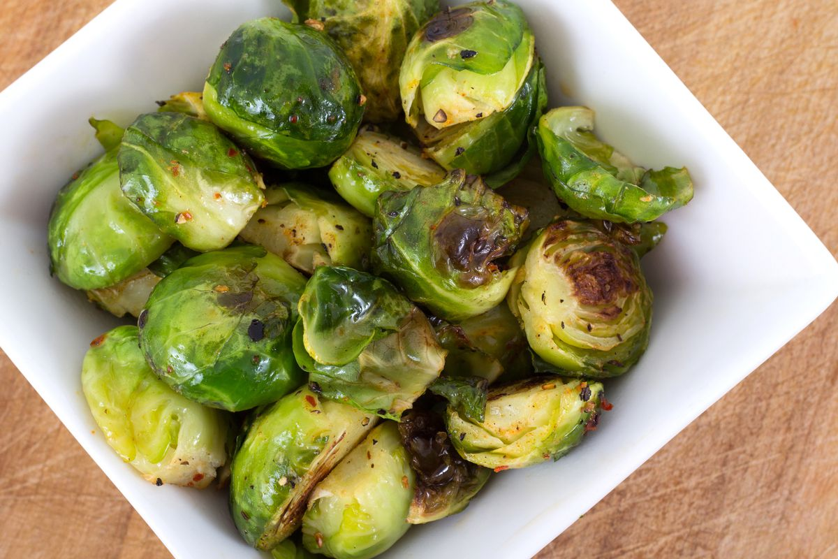 Roast Brussels sprouts for a mighty side dish.
