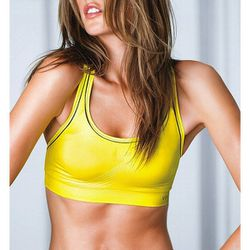 "<b>VSX Sport</b> Supermodel Racerback Sport Bra in lemon zest/black piping, <a href=""http://www.victoriassecret.com/victorias-secret-sport/sports-bras/supermodel-racerback-sport-bra-vsx-sport?ProductID=92661&CatalogueType=OLS"">$32.50</a>"