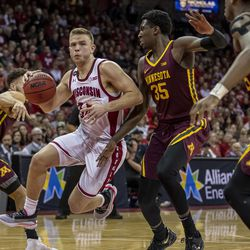 Brad Davison scored a team high 20 points for the Badgers.