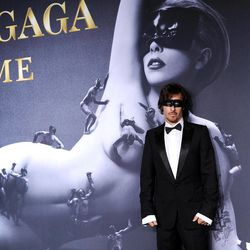 """Photographer Steven Klein arrives at a """"Lady Gaga Fame"""" fragrance launch event at the Guggenheim Museum on Thursday, Sept. 13, 2012 in New York. The black tie masquerade event will feature a performance art piece by Lady Gaga, """"Sleeping with Gaga."""" The film for """"Lady Gaga Fame"""", directed by Steven Klein, will also be unveiled during the evening."""