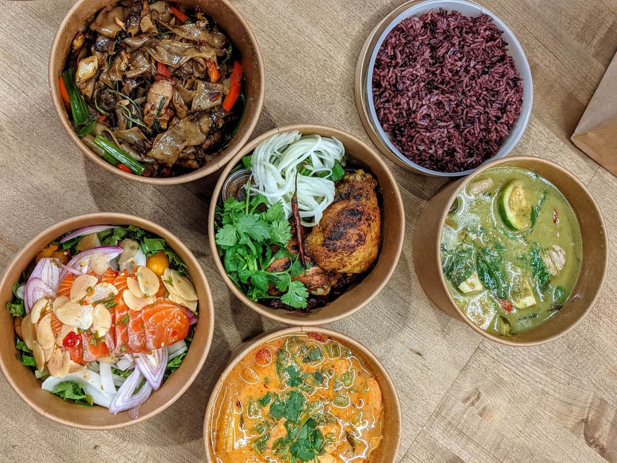 Thai dishes from Holy Basil in Downtown LA.