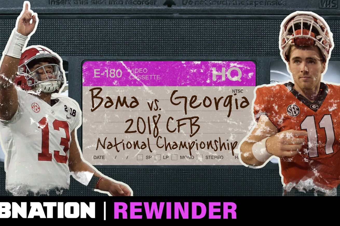 RWR 051 THUMBv2.0 - Alabama and Georgia's overtime thriller in the 2018 National Championship deserves a deep rewind