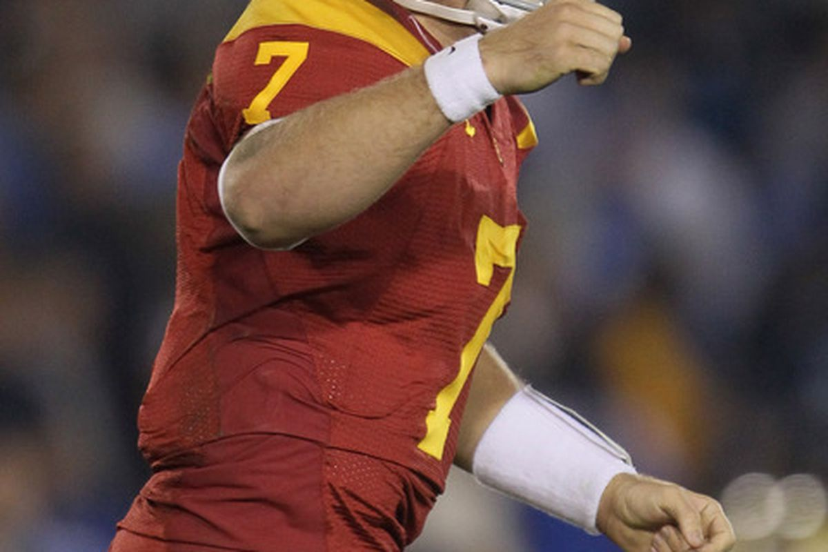 Matt Barkley was the top quarterback in his class in 2009. (Photo by Jeff Gross/Getty Images)