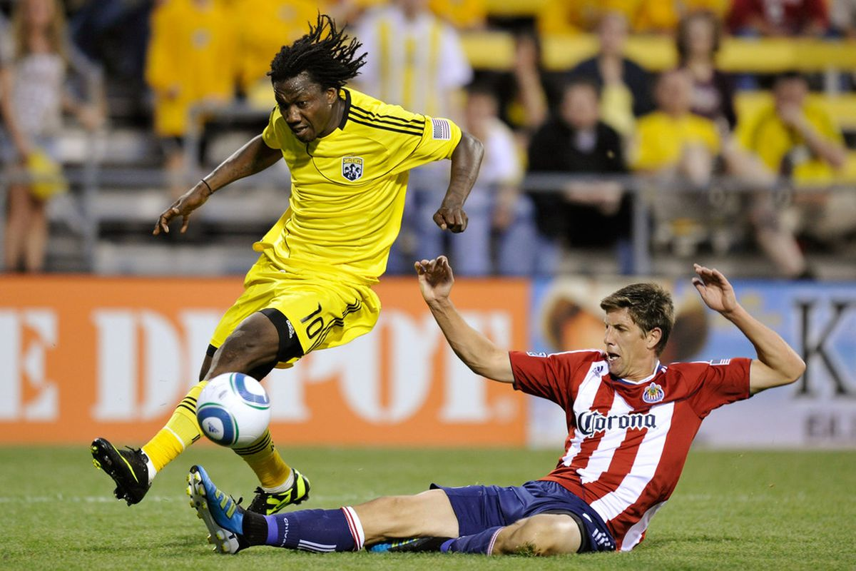 COLUMBUS, OH - MAY 28: Boyens: A mixed 2011 with Chivas USA (Photo by Jamie Sabau/Getty Images)