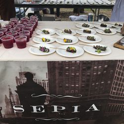 Sepia Restaurant at Green City Market Chef BBQ. | Sun-Times Staff