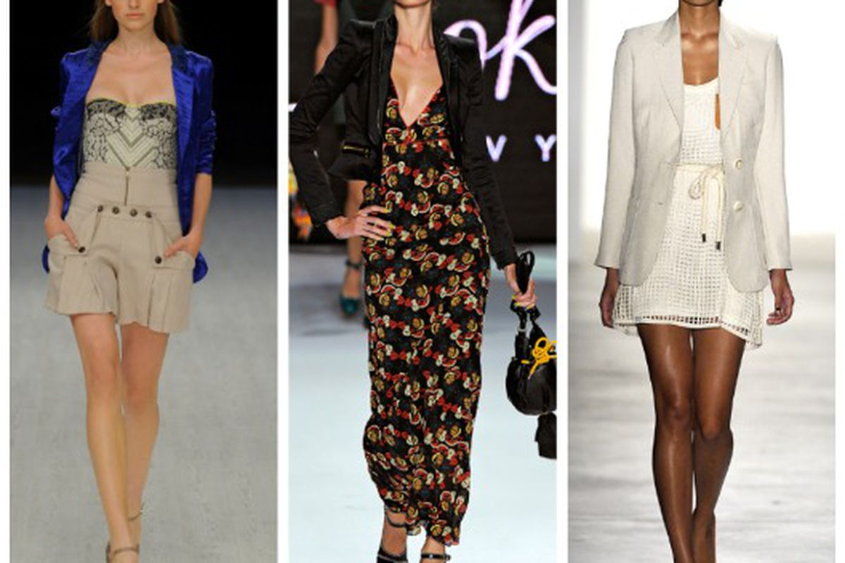 "Spring 2011 looks from (l-r): Matthew Williamson, Z Spoke by Zac Posen, Vena Cava. Images via <a href=""http://Style.com"">Style.com</a>"