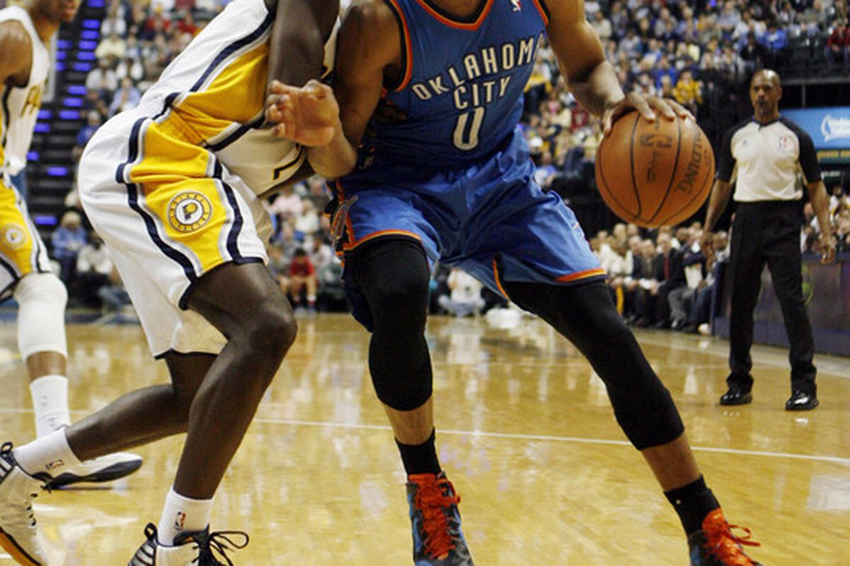 Remember the days when UCLA had Russell Westbrook (0) and Darren Collison (2) as point guards on the same team?  Mandatory Credit: Brian Spurlock-US PRESSWIRE