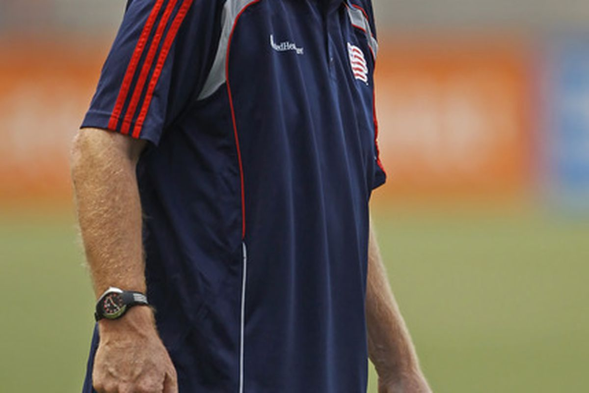 Steve Nicol's coaching this weekend consisted of a lot of screaming at the fourth official.  He also put his hands on his head in disbelief, a lot.    It was awesome.