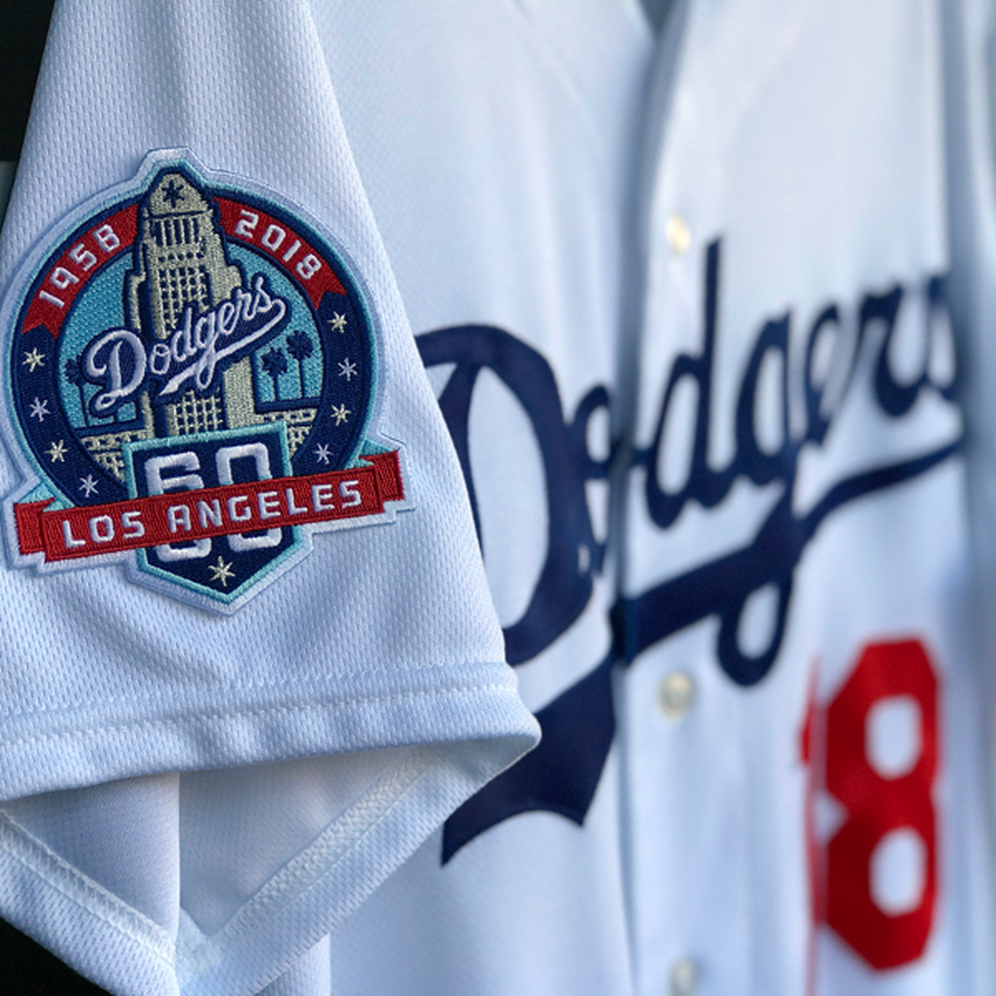 Dodgers To Wear Uniform Patch For 60th Anniversary In Los Angeles