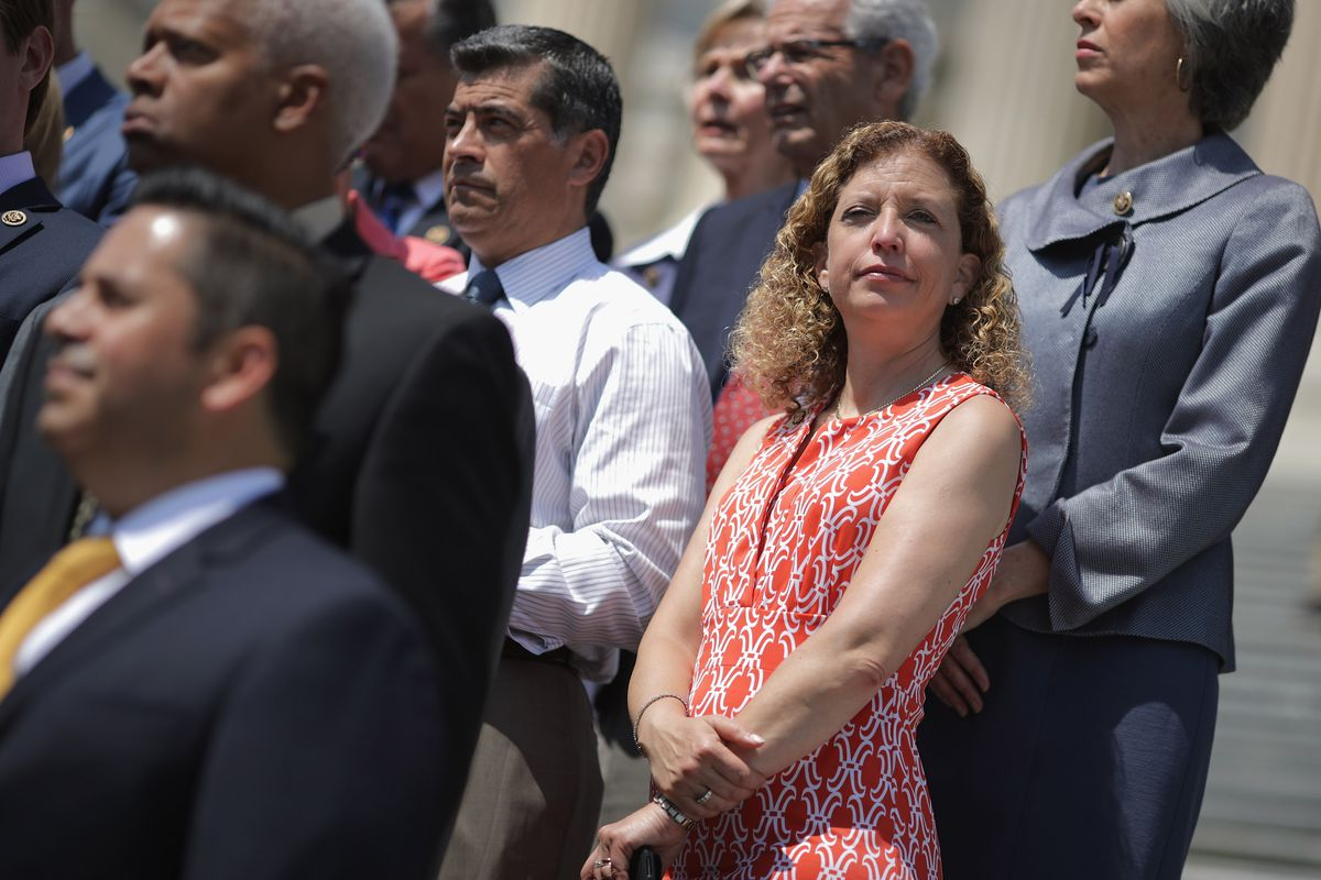 DNC Chair Debbie Wasserman Shultz, right, on Capitol Hill. She will be seen and, mostly, not heard this week in Philadelphia.