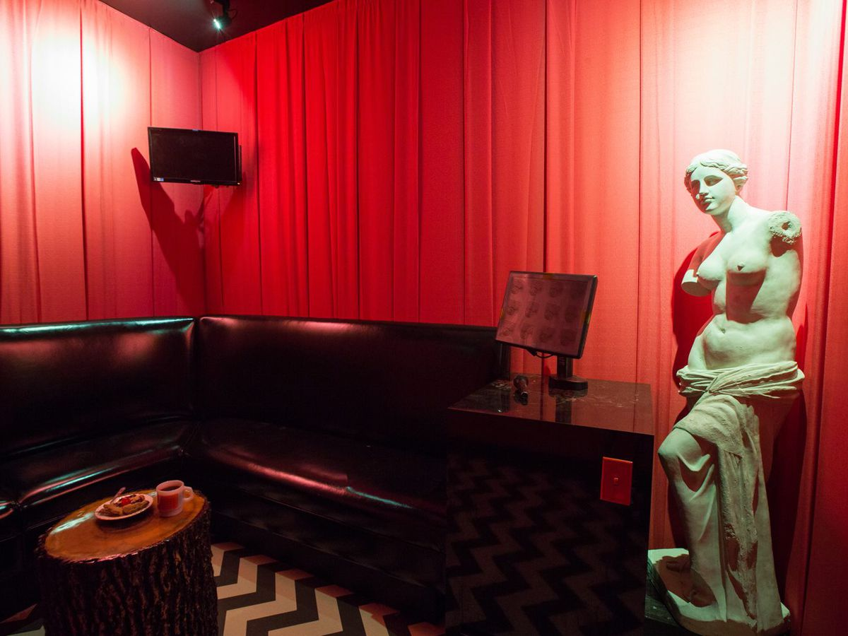 The Twin Peaks room at the Highball