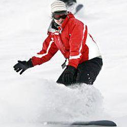 Angela Wadman, Pleasant View, snowboards at Powder Mountain.